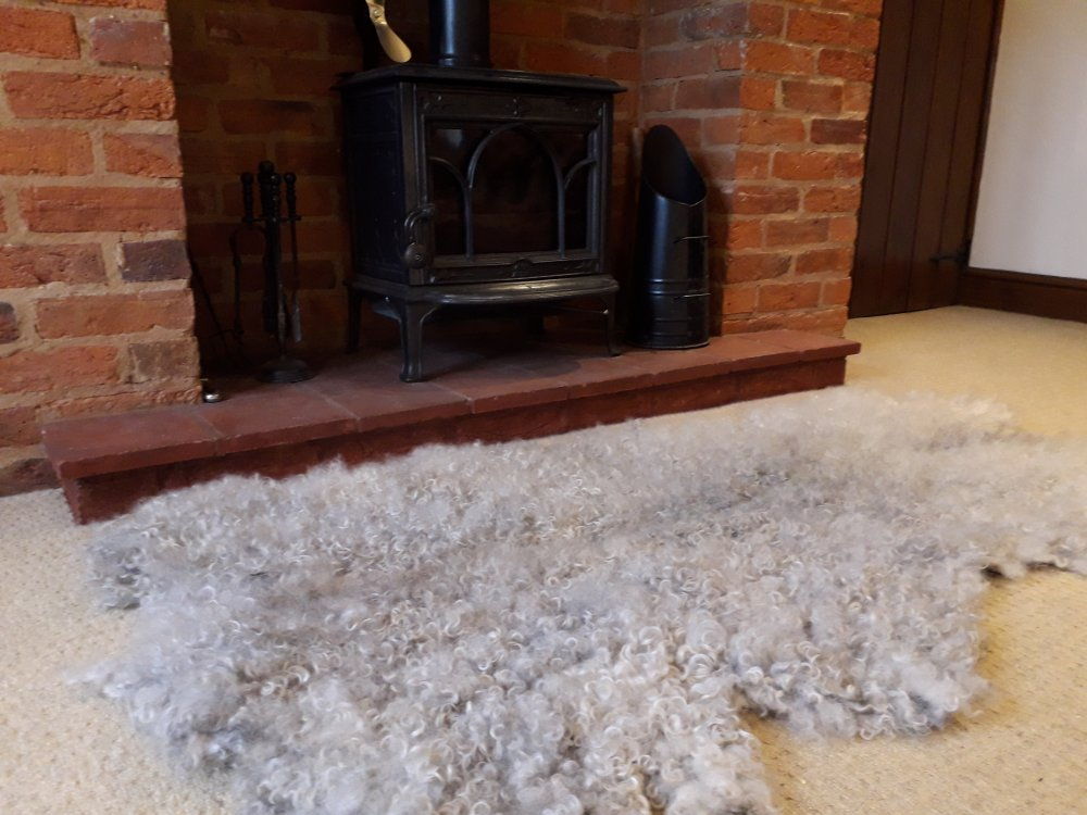 Vegetarian Sheep Skin Rug