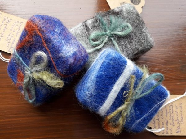Felted Natural Soap