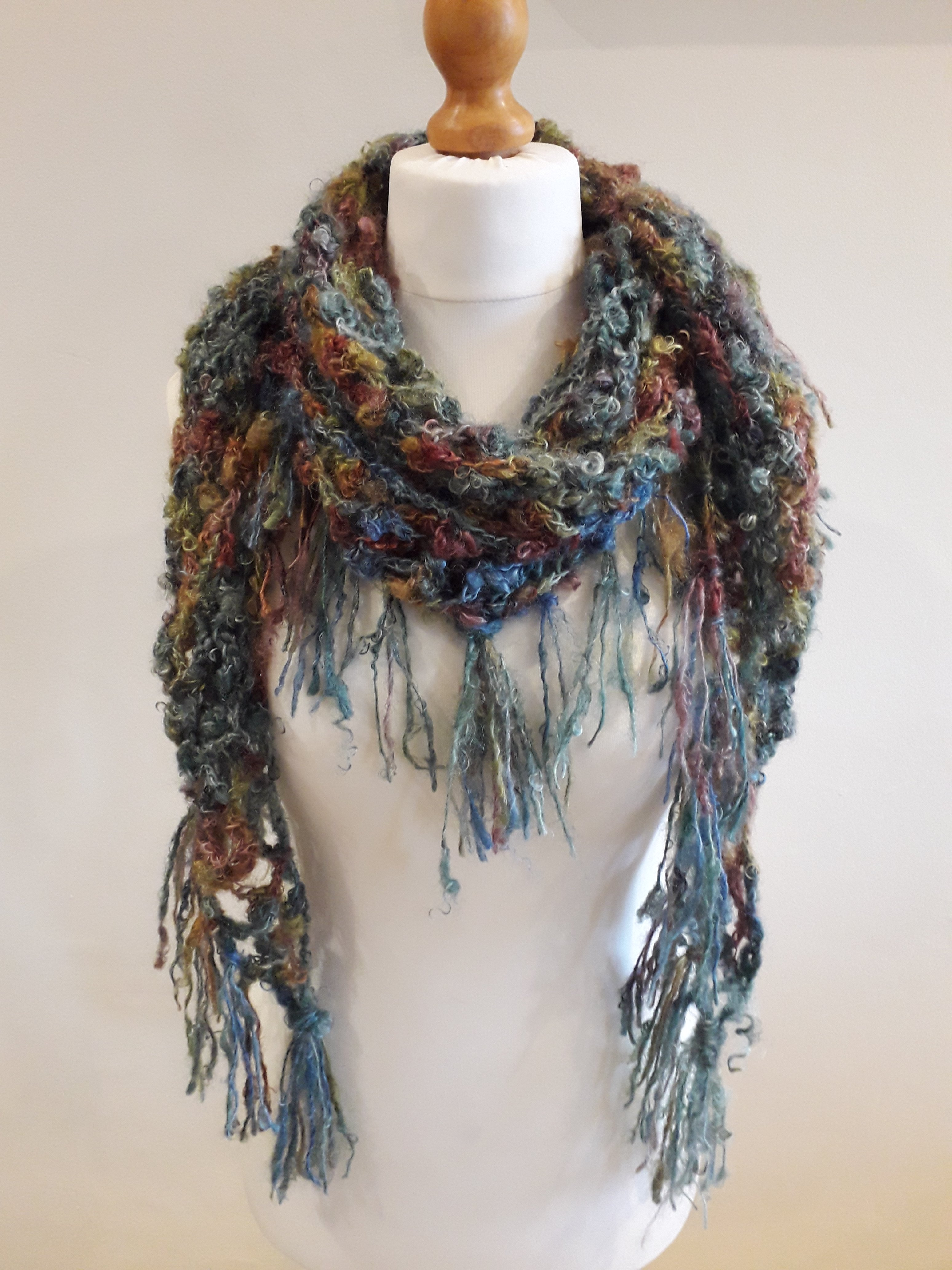 Mohair Scarf With Fringes