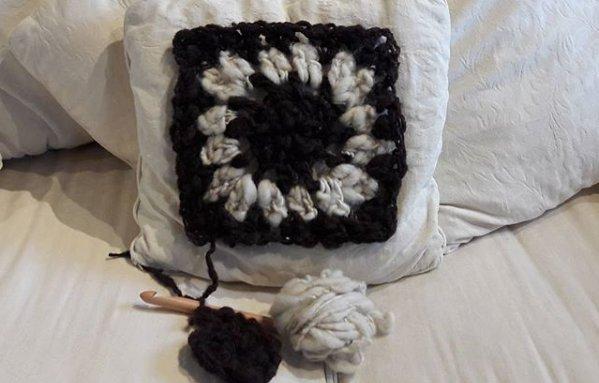 Giant Crochet Granny Square