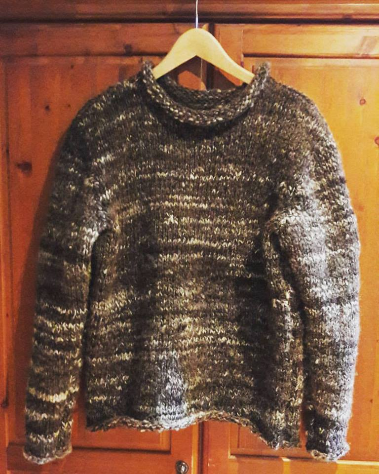 Handknit Wool Jumper