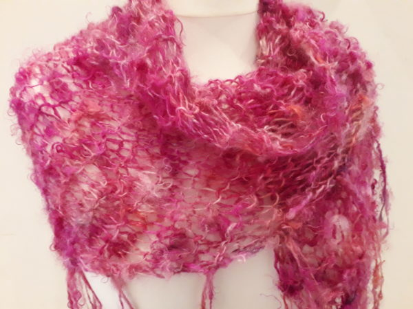 Pink Shawl Detail