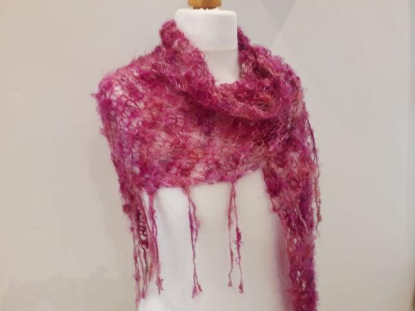Pink Lacey Shawl