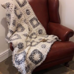 Handmade Throw Blanket in British Mohair
