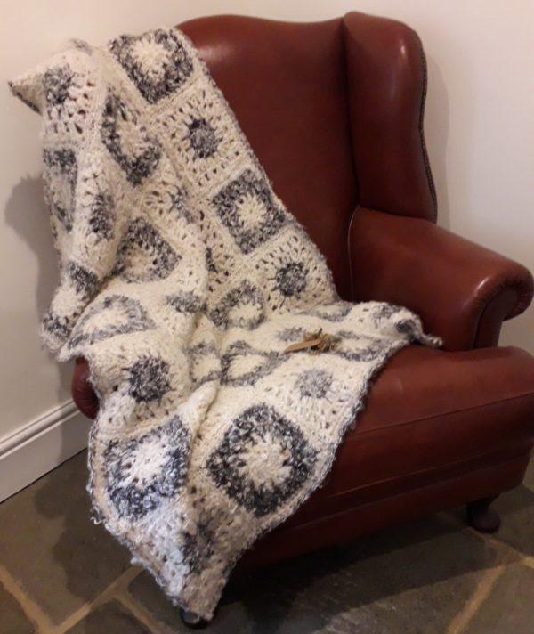 Handmade Throw Blanket in British Mohair