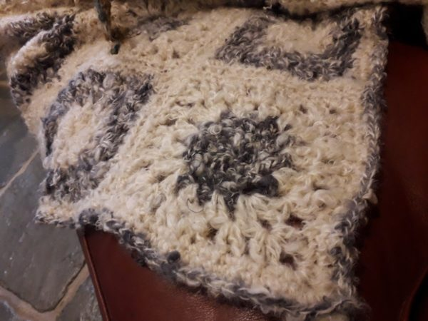 Mohair giant granny square