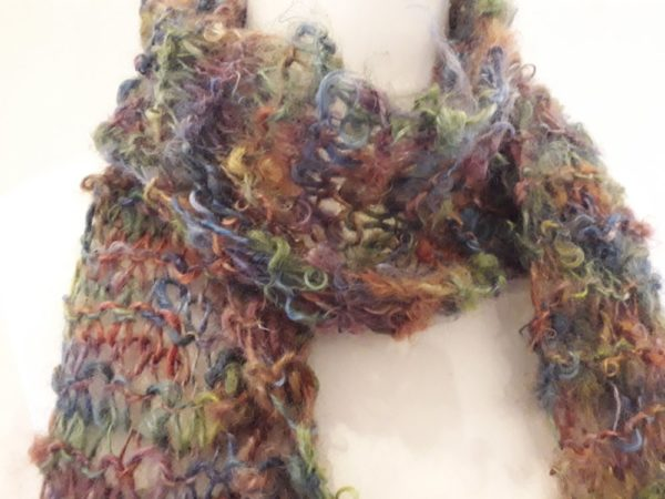 Colourful Chunky Handknit Scarf