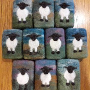 Felted Soap with Sheep