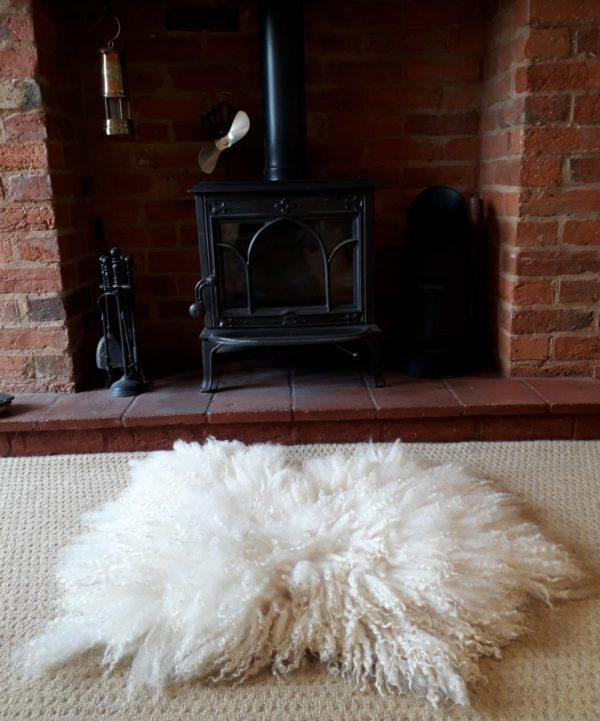 Masham Sheep Fleece Wool Rug