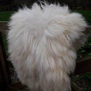 Vegetarian Sheepskin Whiteface Dartmoor Fleece