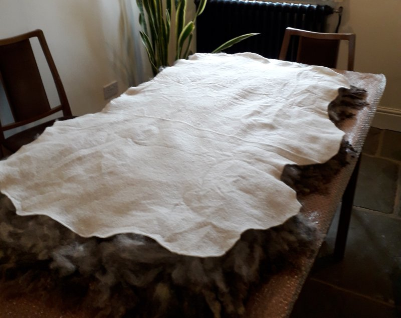 Adding the Backing Layers to a Felted Fleece Rug