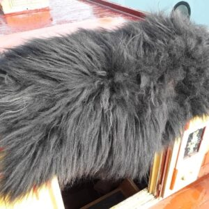 Black Hebridean Vegetarian Sheepskin Rug